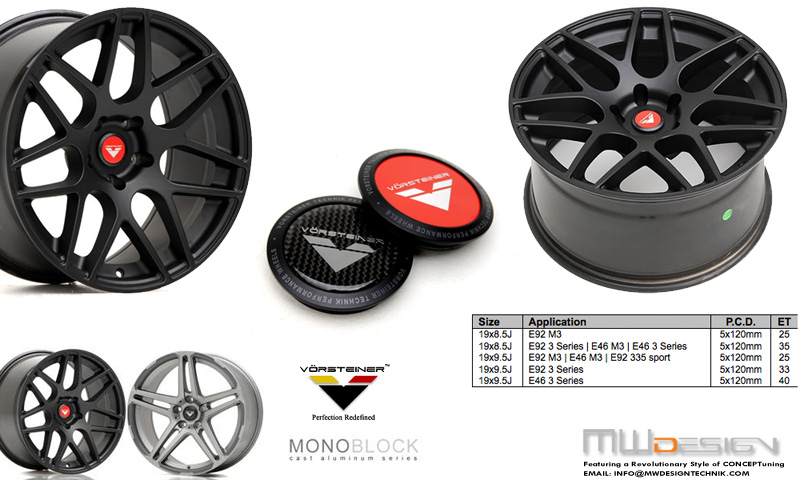 Mwdesign Vorsteiner Monoblock Cast Series Wheels Available For Ordering