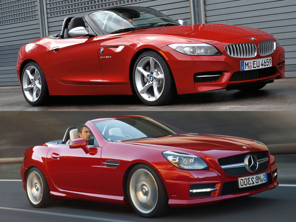 comparison new mercedes slk vs bmw z4. Black Bedroom Furniture Sets. Home Design Ideas