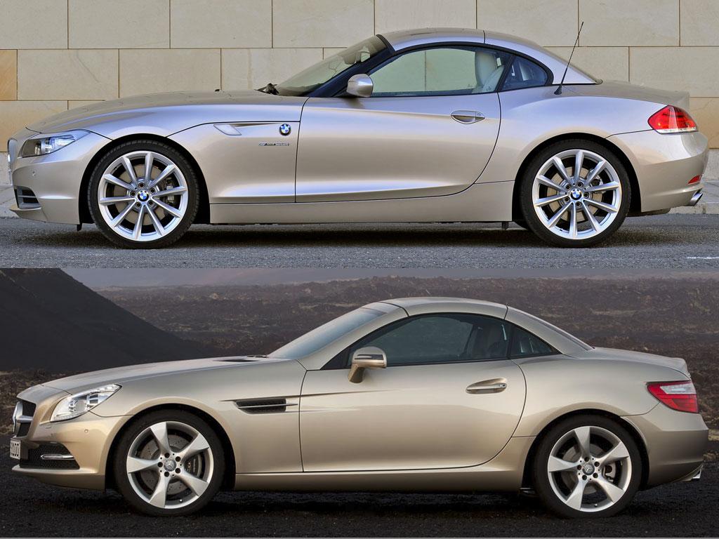 Comparison New Mercedes Slk Vs Bmw Z4