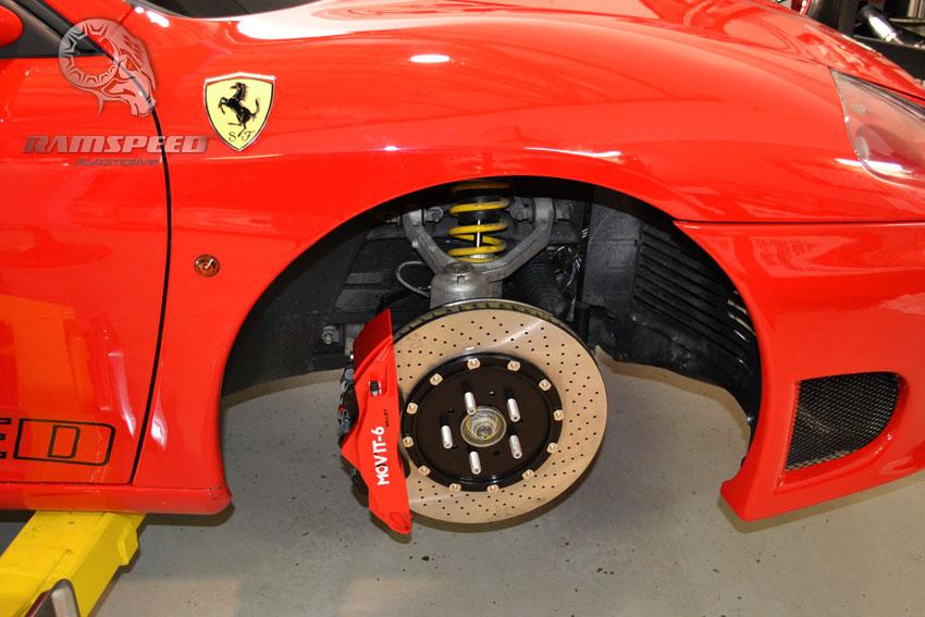 Debadged Ferrari Red Brake Calipers Smoked Reflectors Side