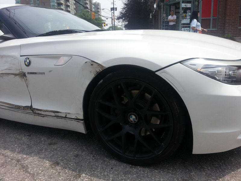 Side Swiped By A Taxi While Turning Major Body Damage