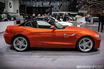 Geneva 2013 Bmw Z4 Lci In Valencia Orange And Hyper Orange Package