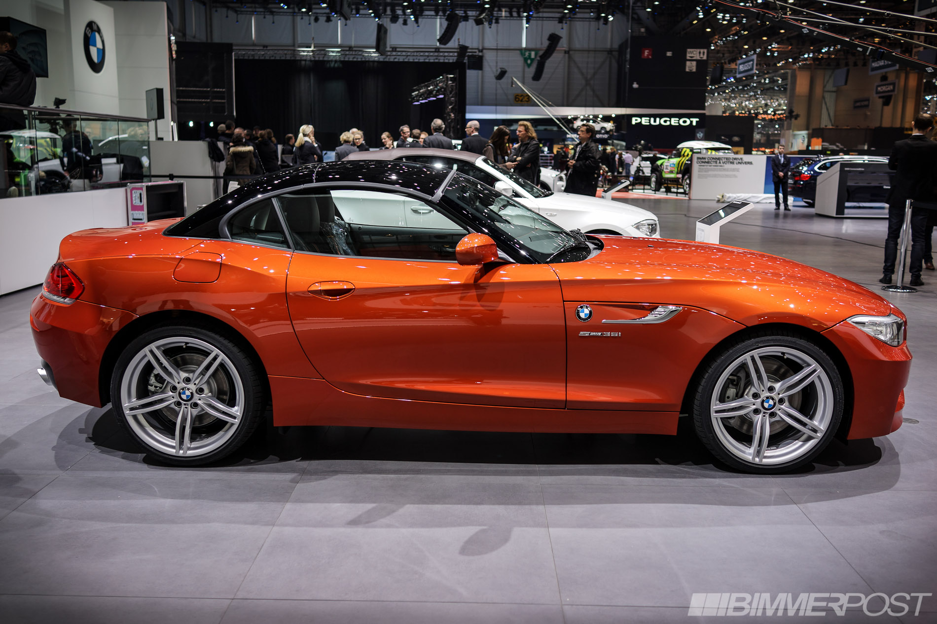 Geneva 2013 Bmw Z4 Lci In Valencia Orange And Hyper